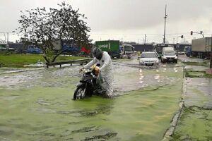 Foram 67 milímetros de chuva nas últimas 72 horas, 42 deles apenas nas últimas quatro horas