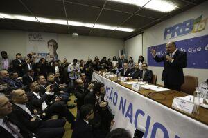 O PRB confirmou o apoio ao pré-candidato do PSDB à Presidência da República, Geraldo Alckmin