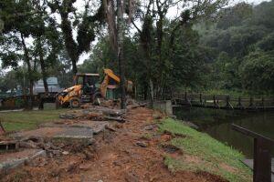 A Lagoa da Saudade vai ganhar um amplo deck de concreto ao seu redor