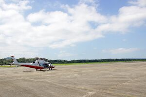 No domingo, houve uma reunião com pessoas da empresa aérea Azul