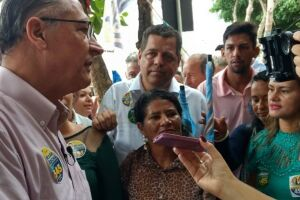 Geraldo Alckmin (PSDB) disse  que Jair Bolsonaro (PSL) tenta justificar uma derrota antecipada
