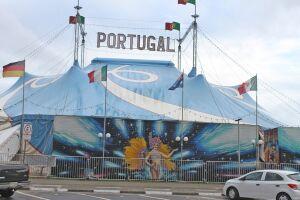 O Circo Portugal fica em São Vicente até o fim de setembro