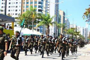 Desfile cívico-militar, na manhã desta sexta-feira (7), em comemoração ao Dia da Independência do Brasil.