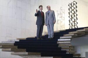 O ministro das Relações Exteriores Aloysio Nunes Ferreira recebe o colega paraguaio Luis Alberto Castiglioni no Palácio Itamaraty