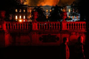 Incêndio atingiu Museu Nacional no Rio de Janeiro no início do mês