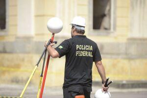 Polícia Federal usa scanner para mapeamento de áreas destrídas do Museu Nacional, no Rio