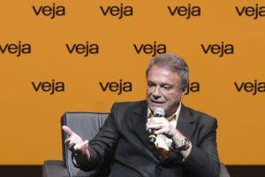 Alvaro Dias, candidato à Presidência pelo Podemos, durante sabatina promovida pela revista Veja