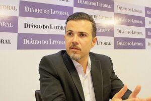 Visita do prefeito Caio Matheus ao Diário do Litoral.