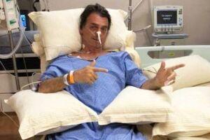 Jair Bolsonaro (PSL) quando ainda se recuperava no hospital.