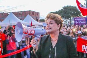 A ex-presidente Dilma Rousseff (PT) não conseguiu se eleger senadora de Minas Gerais.