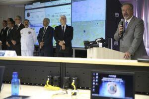 Ministro da Segurança Pública, Raul Jungmann, discursa na abertura do Centro Integrado de Comando e Controle
