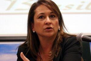 A senadora e ex-ministra da Agricultura Kátia Abreu (PDT-TO), candidata a vice na chapa de Ciro Gomes.