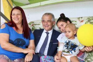 O candidato ao governo do estado de São Paulo pelo PSB, Márcio França, em visita ao GAAC.