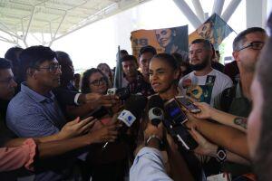 Marina não quis responder questões sobre um possível segundo entre Haddad e Bolsonaro
