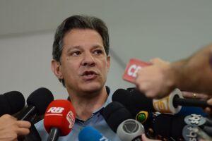 O candidato à Presidência da República Fernando Haddad