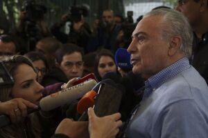 O presidente Michel Temer votou no início desta manhã no colégio Santa Cruz, na zona oeste da capital paulista