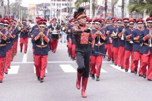 A Banda Marcial de Cubatão já foi convidada especial do 2º Concurso de Bandas e Fanfarras de Santos