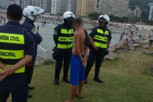 A GCM realizou nova força-tarefa na orla da praia e adjacências