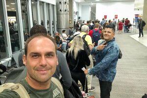 Eduardo Bolsonaro (PSL-SP) chegou nesta segunda-feira (26) aos Estados Unidos