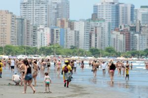 Praias também ficaram cheias na Cidade