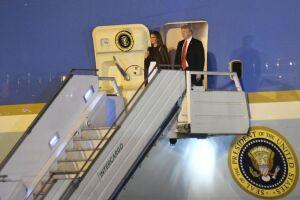 Trump desembarcando em Buenos Aires para encontro do G-20