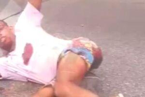 Criminoso pede ajuda à motoristas após ser baleado na Anchieta.