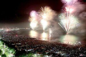O espetáculo de fogos de artifício de Santos será o segundo maior do Brasil