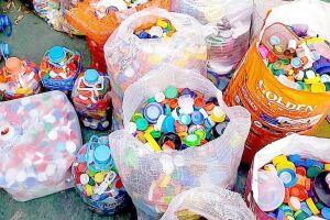Mais de 4.830 quilos de plástico foram transformados em 2018
