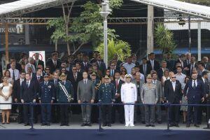 Witsel durante a solenidade de posse do secretário de Polícia Militar, Rogério Figueredo