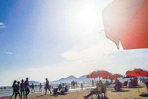 O feriadão prolongado da Páscoa será bem aproveitável nas praias da Baixada Santista