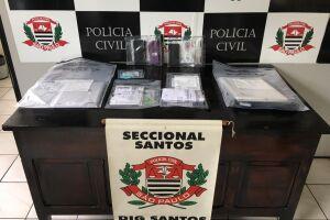 Documentos com contabilidade do tráfico e entorpecentes foram apreendidos em apartamento de Praia Grande