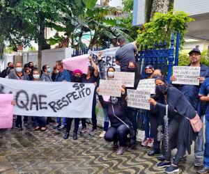Agentes educadores protestam por melhor condição de trabalho