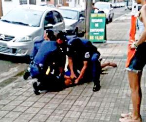 Ação da Guarda Municipal de Santos