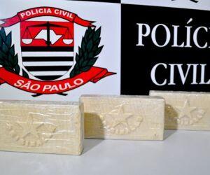 2,8 quilos de cocaína são apreendidos em Guarujá