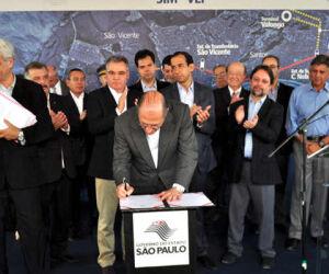 Governador Geraldo Alckmin visita Santos e SV
