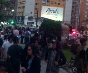 Cerca de 300 pessoas participam do protesto contra aumento das tarifas