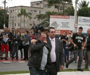 Manifestacao contra morte de personal trainer em Praia Grande