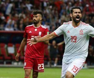 Espanha sofre, mas vence o Irã e divide a liderança do Grupo B com Portugal