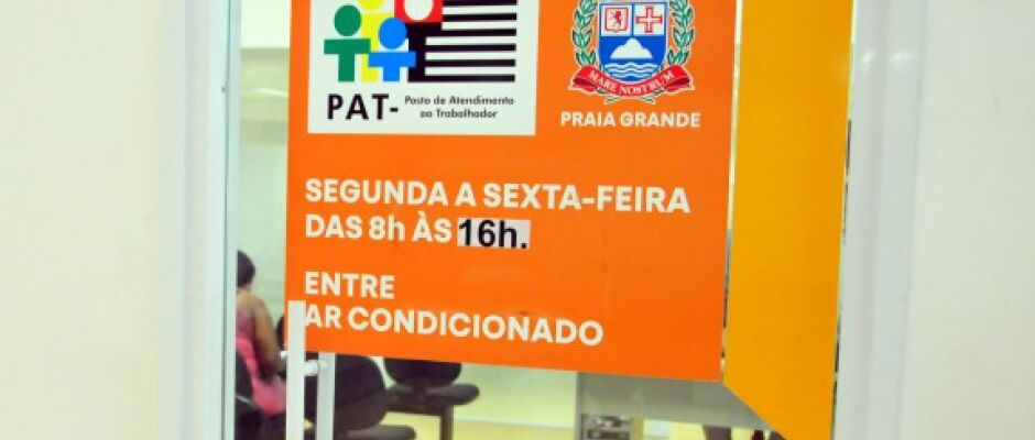 PAT de Praia Grande oferece doze vagas de emprego nesta quinta-feira