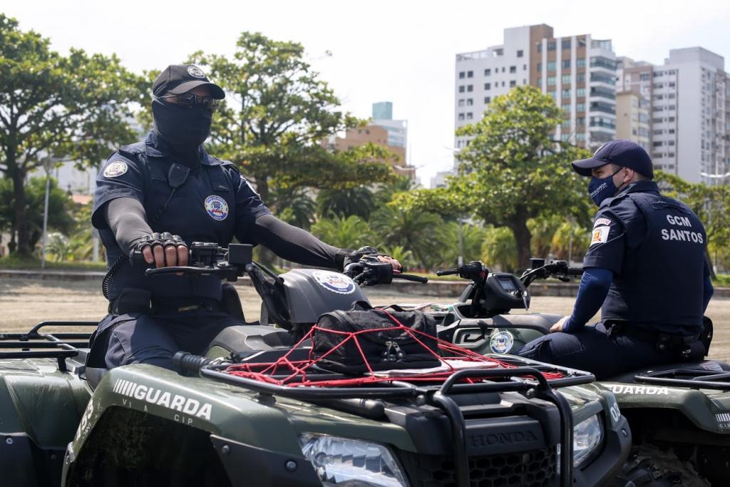 Guarda Civil Municipal faz atuações na Orla de Santos