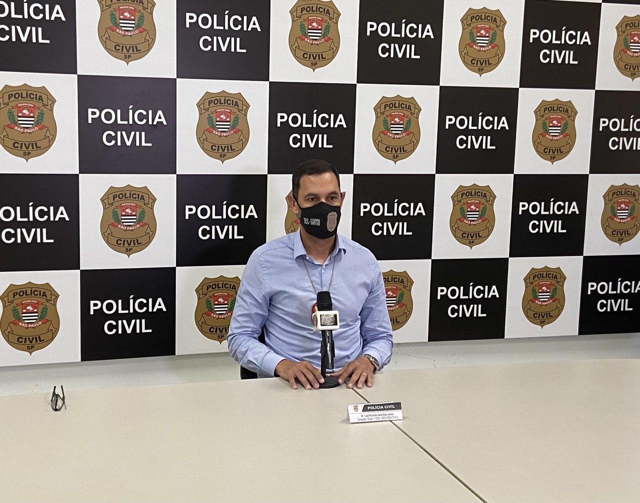 O delegado Luiz Ricardo de Lara Dias Júnior coordenou a ação que resultou na apreensão em Santos