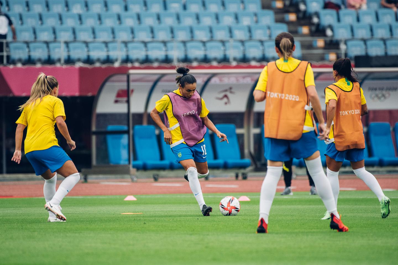 Chocolate! Brasil faz 5 a 0 na China em estreia dos Jogos Olímpicos: Veja imagens