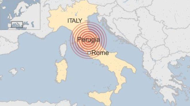 Forte terremoto atinge a região central da Itália