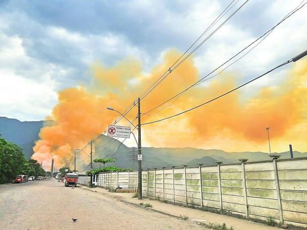 Incêndio na Vale Fertilizantes de Cubatão provoca vazamento de produtos