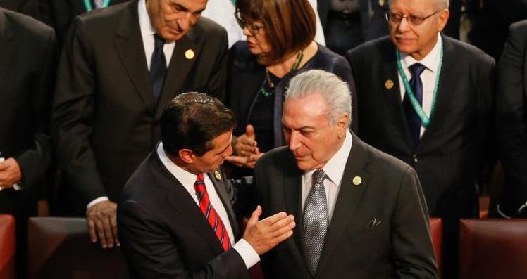 Michel Temer esteve presente no Congresso Nacional em Valparaíso, no Chile, para participar da cerimônia de posse do presidente eleito do Chile, Sebastian Piñera