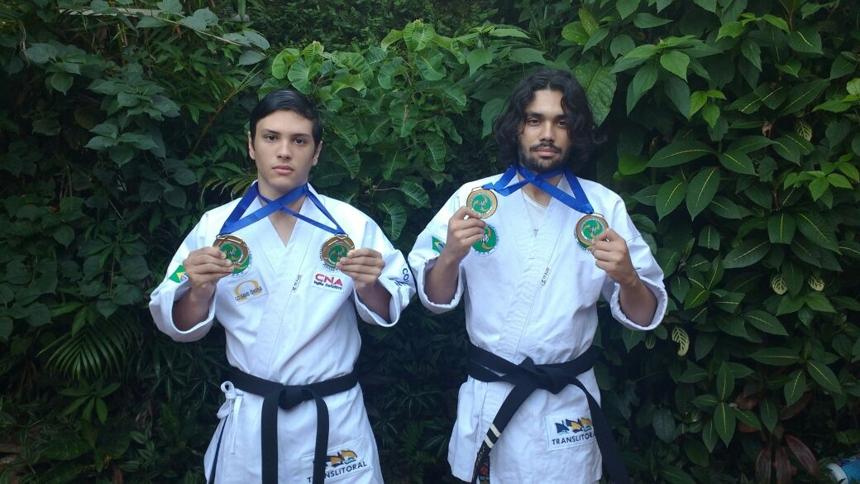 s Ramon e Pablo Mello foram destaque na Copa São Paulo de Karatê