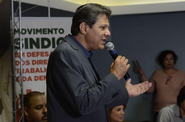 O candidato à Presidência da República, Fernando Haddad