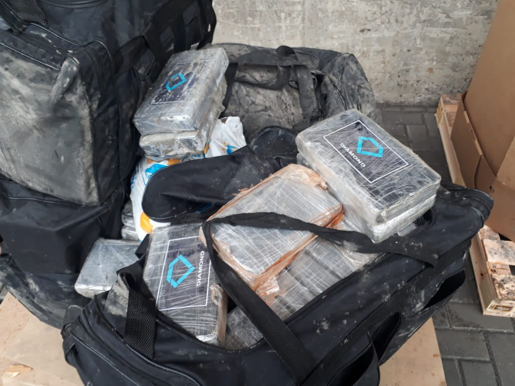 O destino final da carga contendo cocaína seria o porto de Le Havre, na França