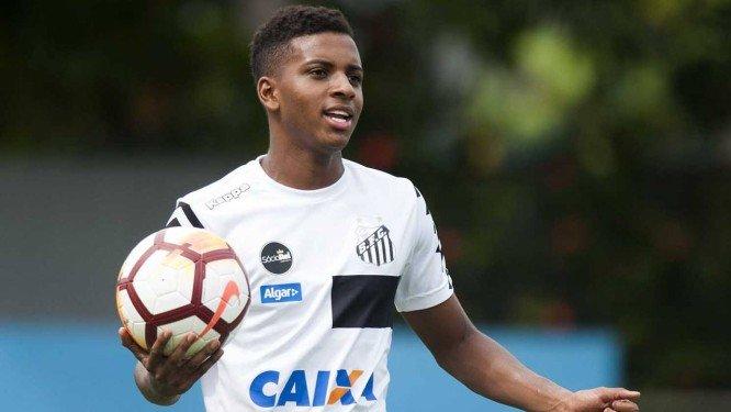 Rodrygo é o único brasileiro e o mais novo da lista