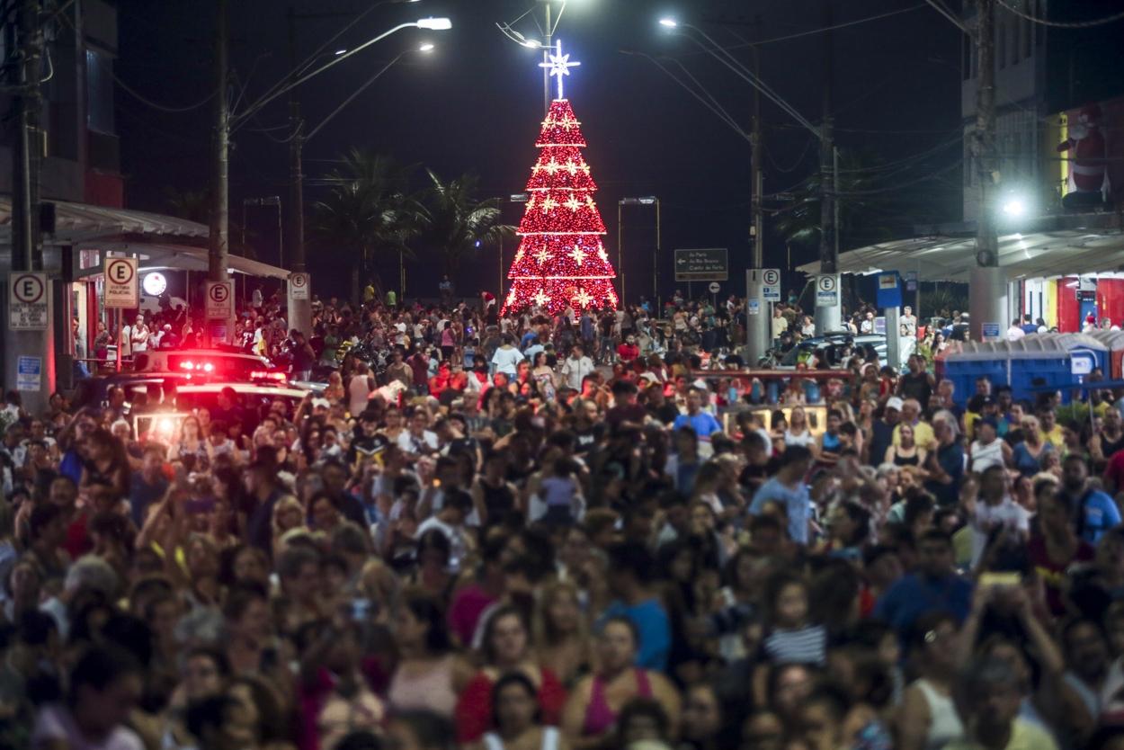 Praia Grande celebra Natal com grande festa no Boqueirão - Diário do Litoral